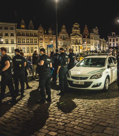 Twaalf coronaboetes na drukke avond in Gentse binnenstad, twee personen aangehouden