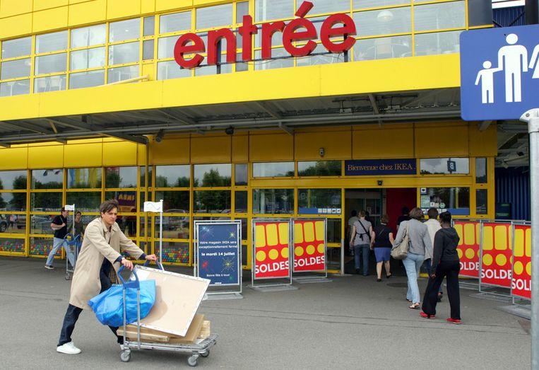 De ingang van een Franse IKEA-vestiging. Beeld ap