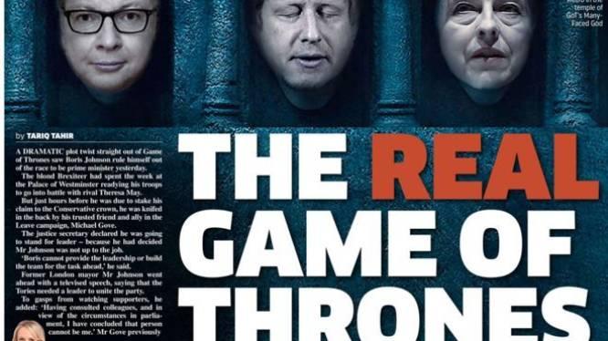 "Van ""Bye Bye Boris"" tot ""Brexecuted"": Britse kranten om ter origineelst na politieke dolk in rug Boris Johnson"