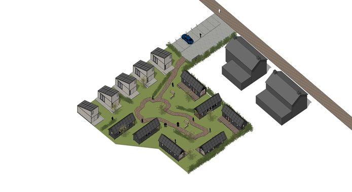 Voorbeeld plan tiny houses Aarle-Rixtel