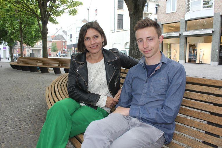 Actrice Joke Devynck en lijsttrekker voor Groen Lander Wantens.