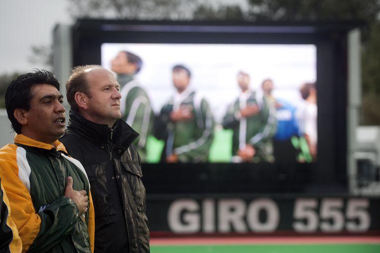 Coach Michel van den Heuvel van Pakistan. Beeld anp