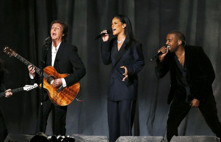 Paul McCartney, Rihanna en Kanye West. Beeld REUTERS