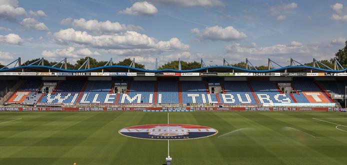 Het stadion van Willem II in Tilburg.