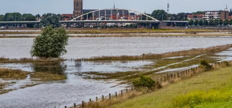 Afval langs de IJssel na het hoogwater: 'Veel klein spul, maar we zijn nog geen caravan tegengekomen'