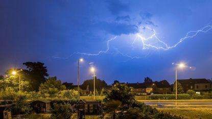 Code geel. KMI waarschuwt voor hevig onweer