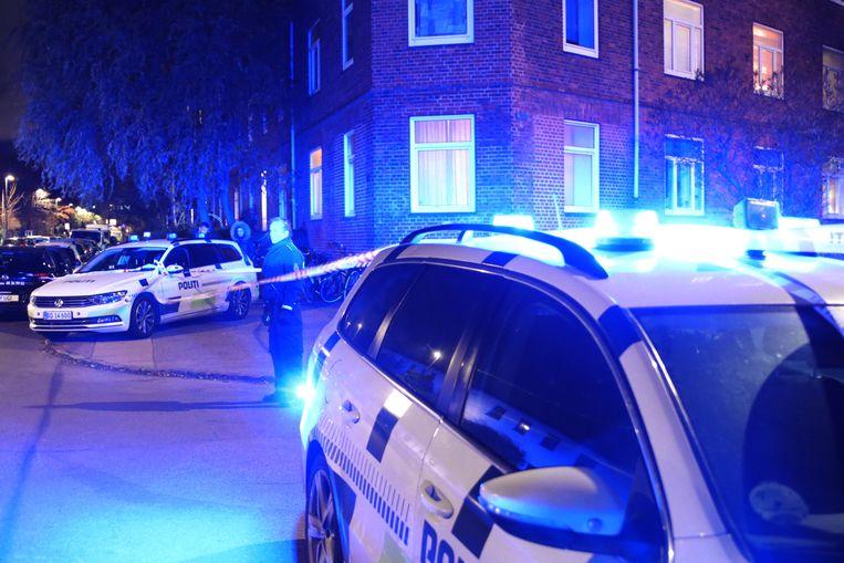 De politie op de plek van de schietpartij.
