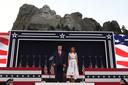 President Donald Trump en First Lady Melania Trump.