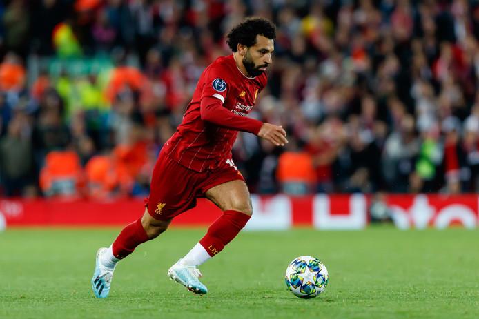 Mohamed Salah in actie in het thuisduel met RB Salzburg (4-3).