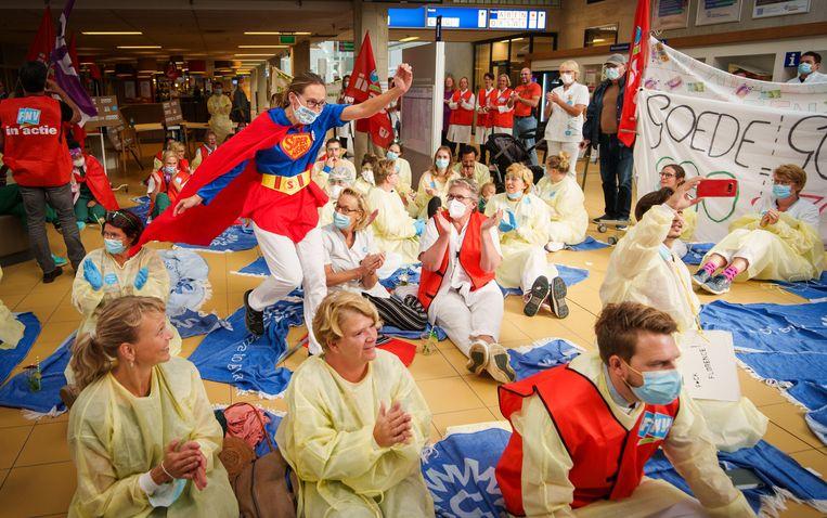 De landelijke stakingsdag in het UMC Utrecht.  Beeld Hollandse Hoogte / Martijn Beekman