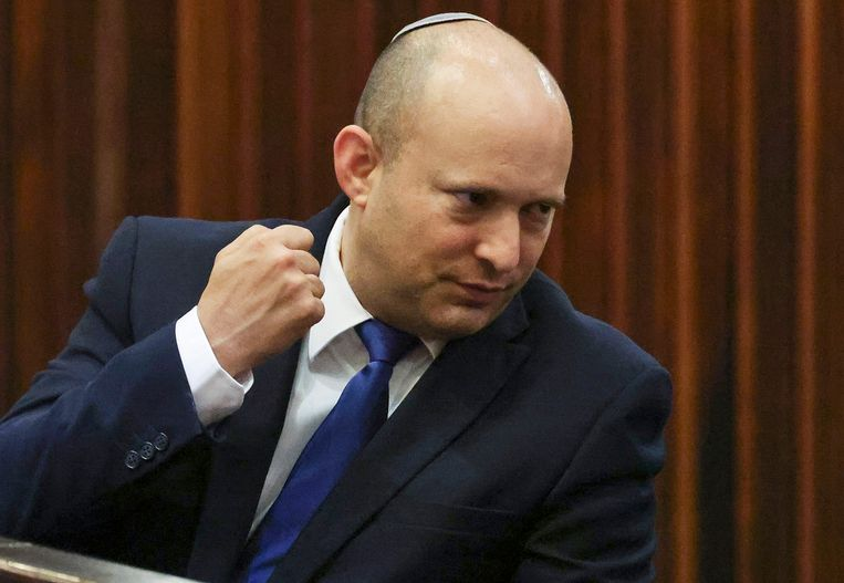 De nieuwe premier van Israël Naftali Bennett is steeds vaker het doelwit van bedreigingen. Beeld AFP
