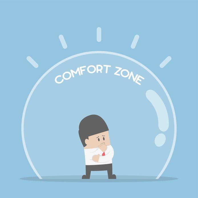 De baas van Henk zegt dat buiten de comfort zone 'the magic happens'.