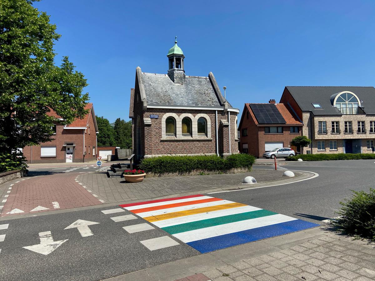Illustratiebeeld van een regenboogzebrapad in Zoersel.