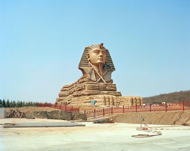 De Sfinx van Gizeh (origineel in Egypte) Beeld PAULINE NIKS