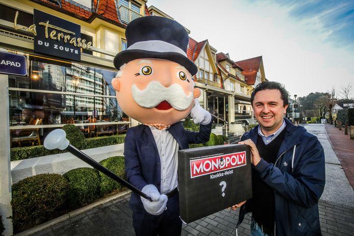 Knokke voorstelling monopoly: Pieter De Wulf