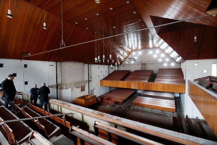 Het interieur van de al jaren gesloten voormalige Pniëlkerk in het Veenendaalse centrum.