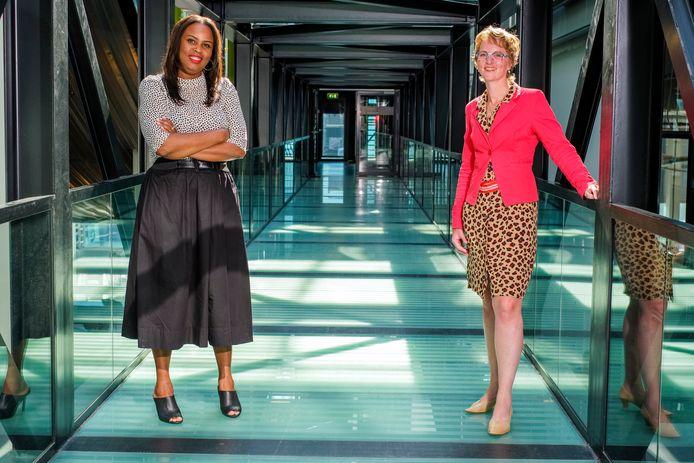 Nancy Poleon (links) en Jikkie Has helpen vrouwen meer zelfvertrouwen op te doen.