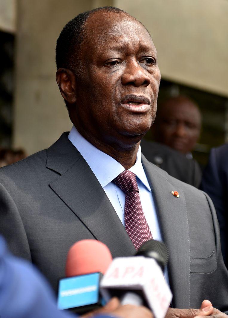 De Ivoriaanse president Alassane Ouattara. Beeld AFP