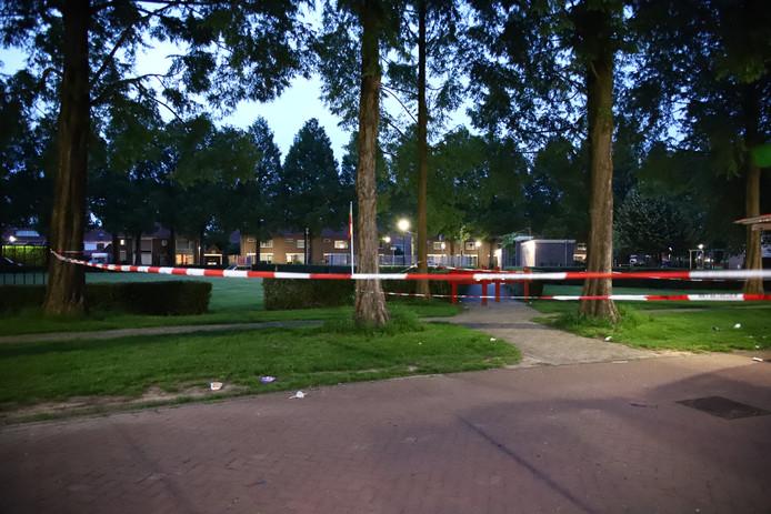Een deel van de omgeving werd na de steekpartij afgezet.