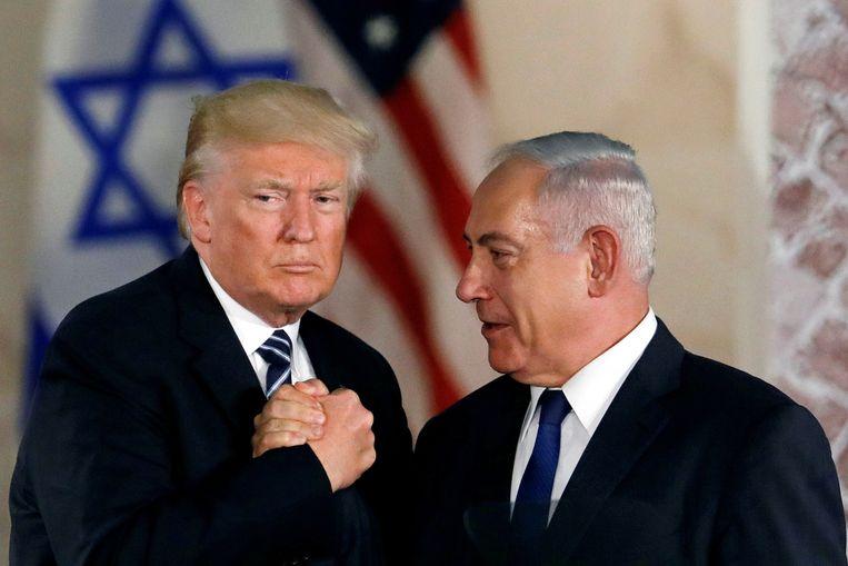 Met toenmalig Amerikaans president Donald Trump in 2017. Beeld REUTERS