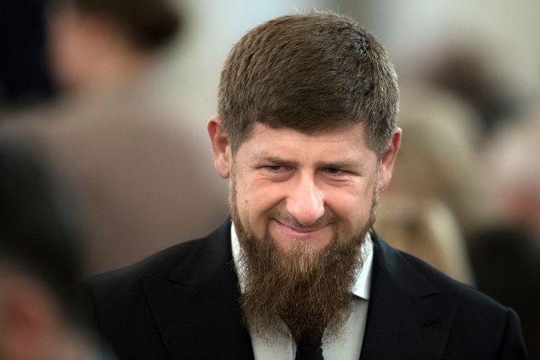 De Tsjetsjeense leider Ramzan Kadyrov ontkent dat homo's in zijn land bestaan. Beeld AP