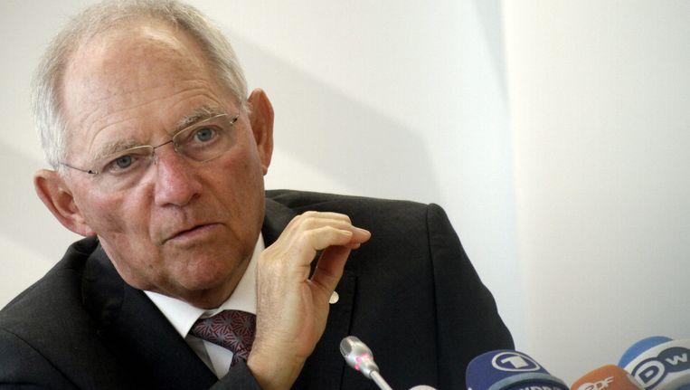 De Duitse minister van Financiën, Wolfgang Schäuble. Beeld EPA