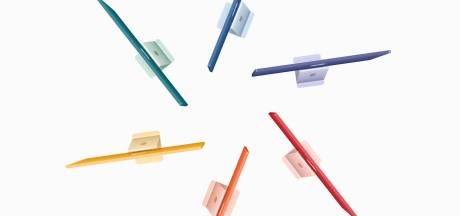 Apple onthult flinterdunne iMac in zeven verschillende kleuren