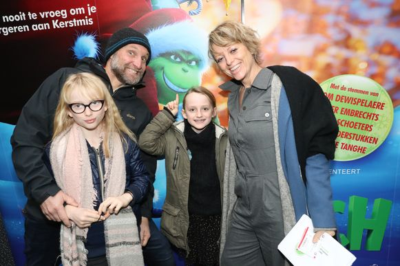 Jan Van Looveren en partner Els Beatse en kids Pippa en Liloe