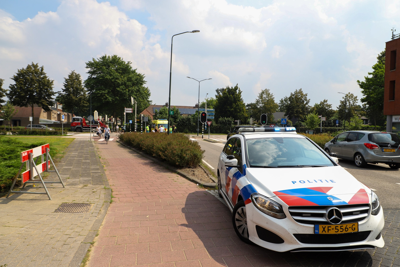 Politie ter plaatse in Veghel.