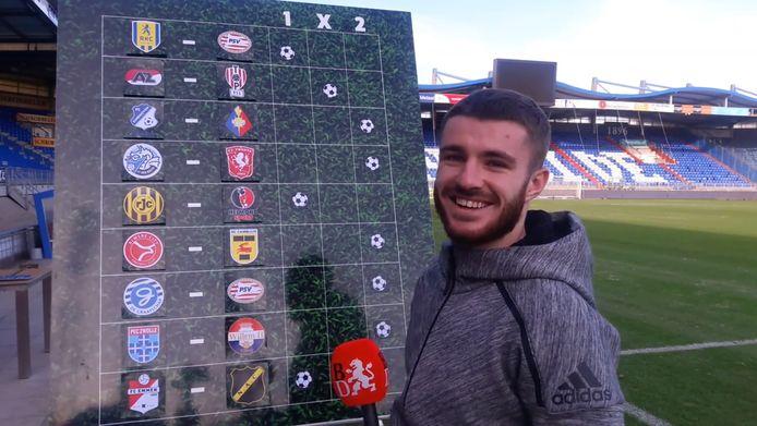 Daniel Crowley voorspelde vijf van de negen wedstrijden goed.