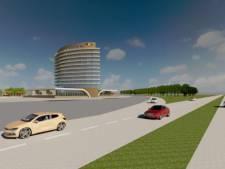Hoge hoteltoren Van der Valk in Hattem alleen vanaf de snelweg te zien, buurt hoeft zich geen zorgen te maken