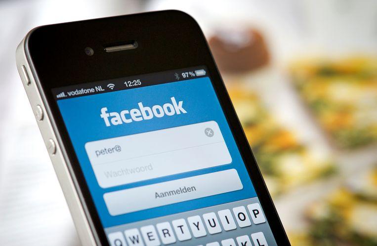 De Facebook-app op een iPhone. Archieffoto.