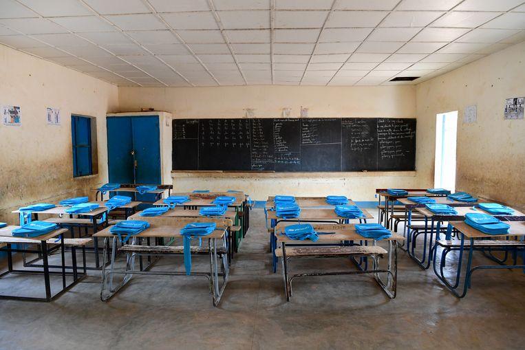 Klaslokaal in Benin Beeld © UNICEF/ Frank Dejongh
