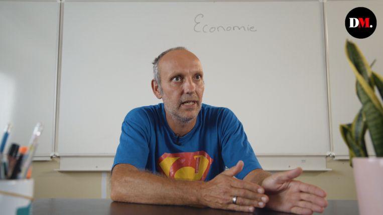 Tom Caers, leerkracht economie. Beeld rv