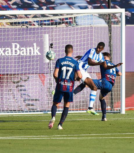 Schitterende goal Isak niet genoeg voor zege Real Sociedad bij Levante