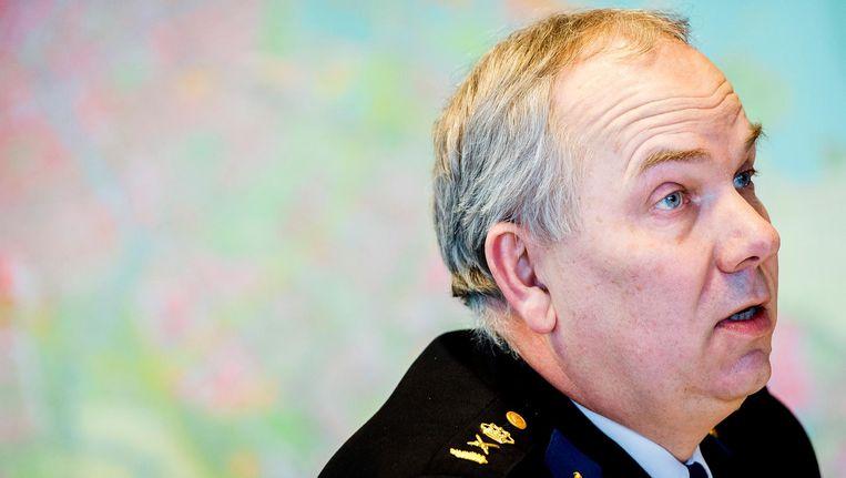 Pieter-Jaap Aalbersberg, politiechef van de Eenheid Amsterdam en portefeuillehouder Afpakken. Beeld anp