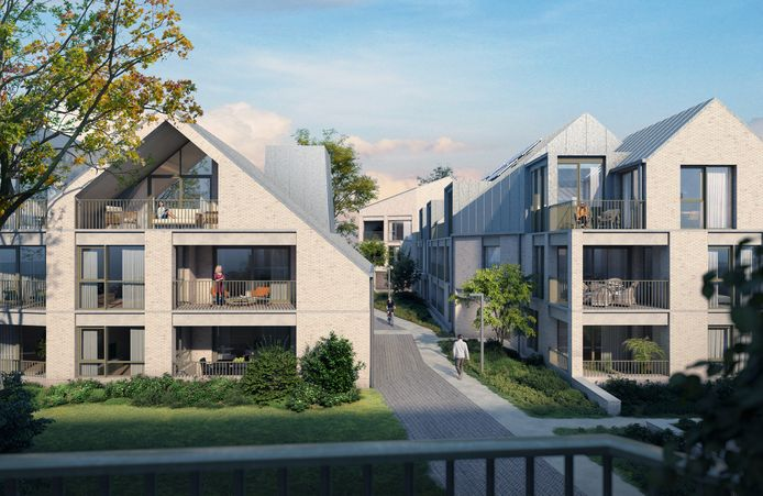 Tegen de zomer van 2023 moeten de 45 appartementen instapklaar zijn.