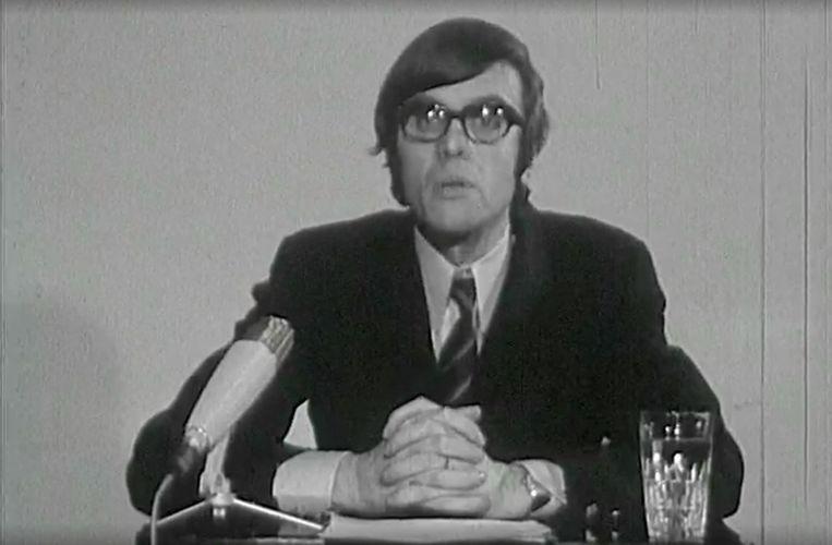 Jan Van Rompaey als presentator van 'Magesien'. Beeld RV
