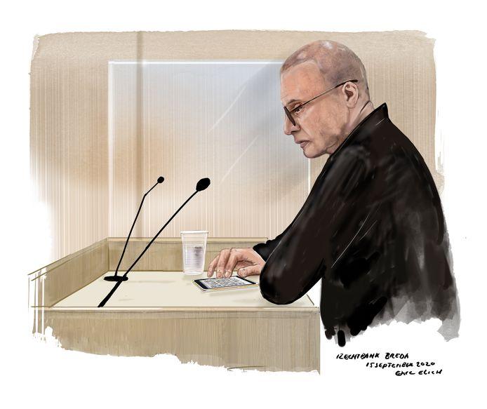 Rechtbanktekening Klaas Otto september 2020