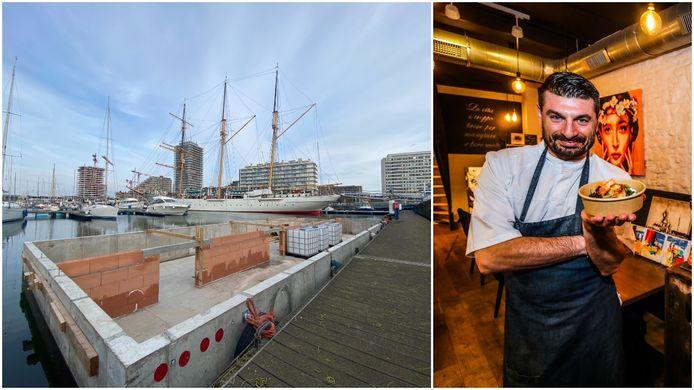 Resto Vito, van chef Vito Centomani, krijgt een unieke plaats in de jachthaven naast de Mercator.
