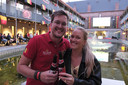 Jules Deleersnijder met zus Marie in hotel Van der Valk.