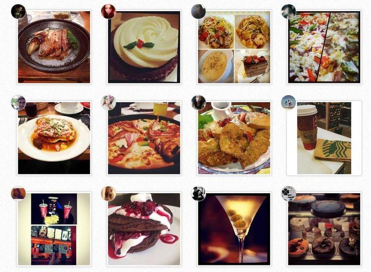 Foto's van eten op Instagram. Beeld Instagram
