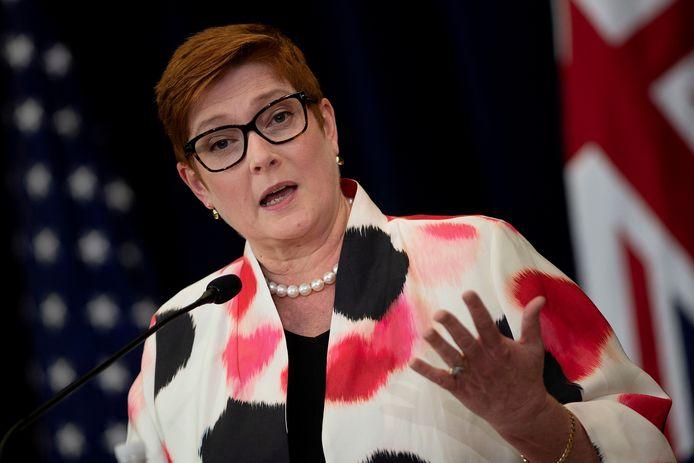 De Australische minister van Buitenlandse Zaken Marise Payne.