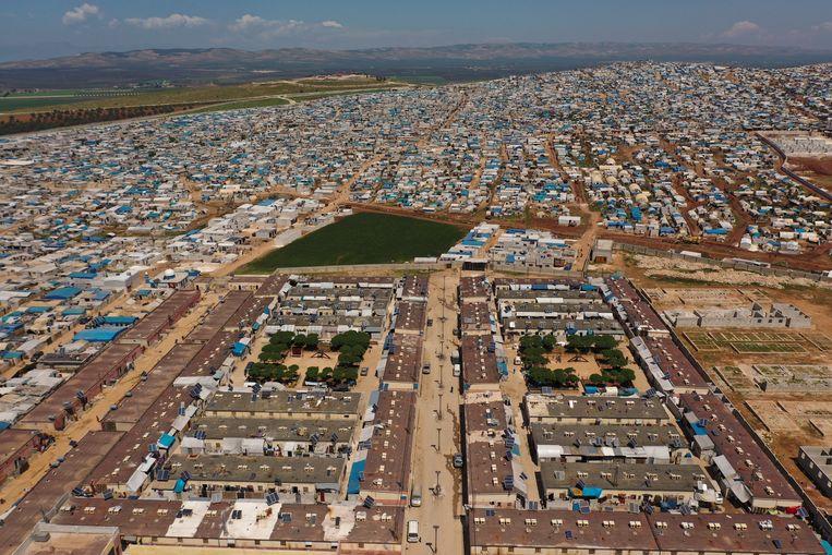 Een vluchtelingenkamp in Idlib, Syrië. Beeld AP