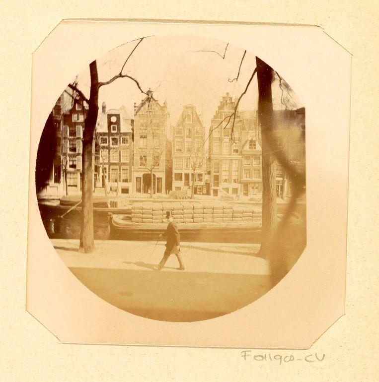 Toegeschreven aan Johanna Margaretha Piek, Uitzicht op Herengracht 258 Amsterdam, 1891. Beeld Rijksmuseum