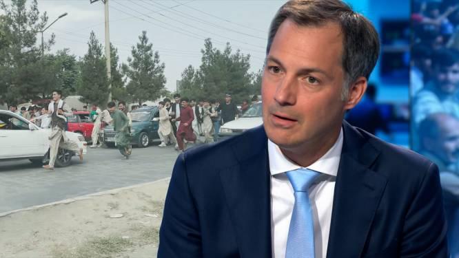 """Premier De Croo wil strenge controle van passagiers evacuatievluchten: """"Geen mensen meenemen die we hier niet willen"""""""
