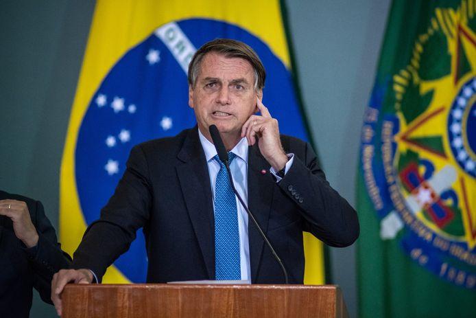 Le président Jair Bolsonaro, la semaine passée, à Brasilia