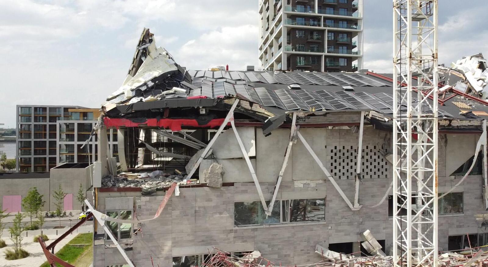 Een school in opbouw stortte vrijdagmiddag in.