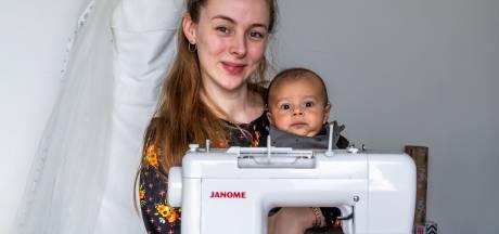 Neline maakte haar trouwjurk van Ikea-stof: 'Ik zou ook nog een keer een jumpsuit willen maken'