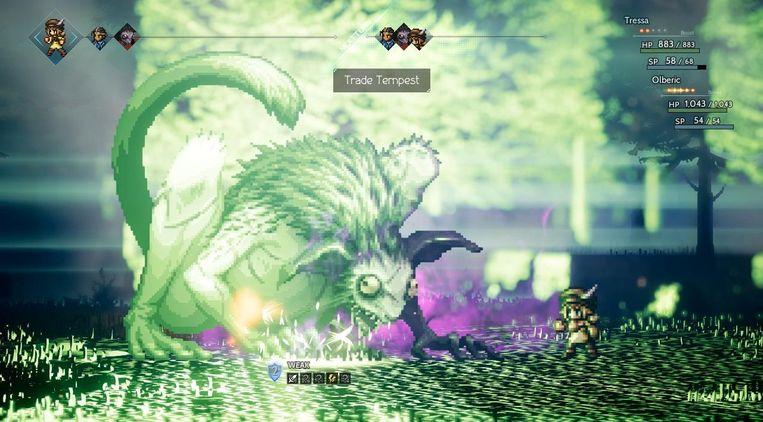 Voor wie kan genieten van een langer role playing-epos: 'Octopath Traveler'. Beeld Square Enix